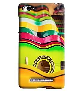Blue Throat Colourful Guitar Printed Designer Back Cover/Case For Xiaomi Mi4i