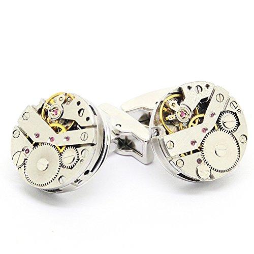 Steampunk-Uhr-Manschettenkn?pfe, Klassiker Uhrwerk Uhrwerk Manschettenkn?pfe
