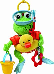 infantino flip the frog green discontinued by manufacturer car seat toys baby. Black Bedroom Furniture Sets. Home Design Ideas