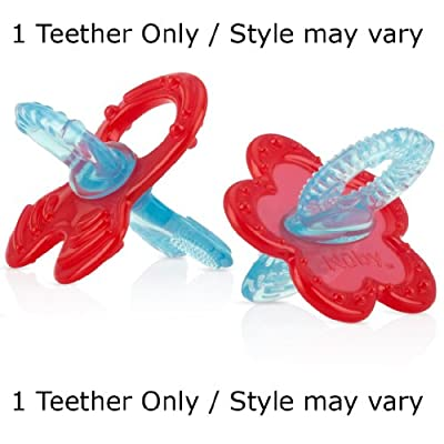 Nuby Chewbies Soft Silicone Teether, Promotes Transition from Nursing to Chewing (1 Teether Only / Style may vary) from Nuby
