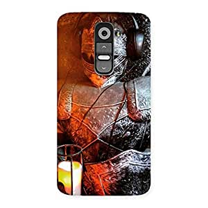 Delighted Warrior Knight Print Back Case Cover for LG G2
