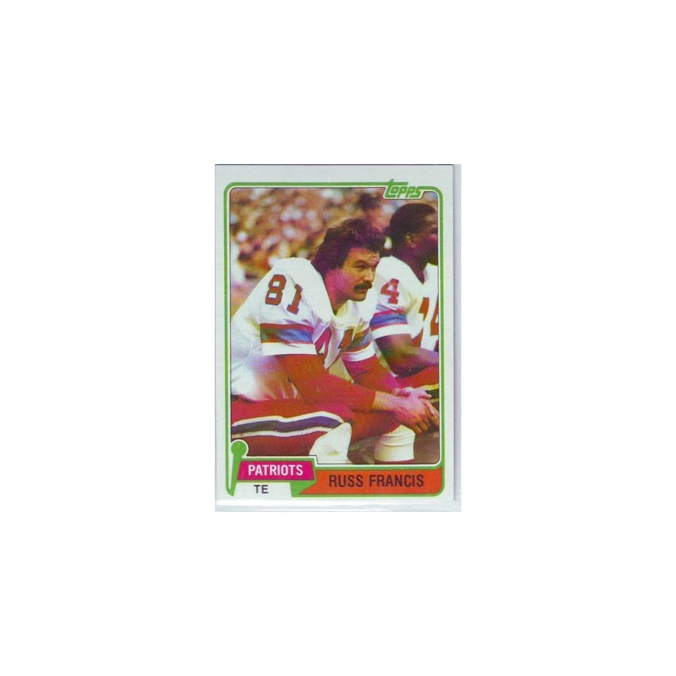 1981 Topps Football New England Patriots Team Set