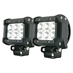 "2x 4"" 18w 6 Cree XBD LED SUV Off-road Boat Headlight Spot Driving Fog Light + Mounting Bracket"