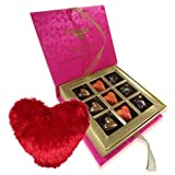Valentine Chocholik's Belgium Chocolates - Made For Each Other Of Love Chocolates With Heart Pillow