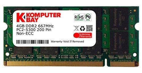 Komputerbay SODIMM Speichermodul für Sony-Laptops (4GB, 200-Pin, 667 MHz, PC2 5300 / PC2 5400, DDR2, CL 5)