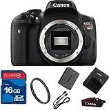 Canon T6I DSLR Camera Body Only (NO LENS)+ 16GB Memory + UV Filter + Deluxe Value - International Version
