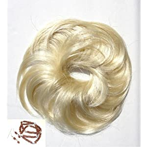 Scunci-like Hair Accessories- Faux Hair Piece Light Blonde Curly Twister