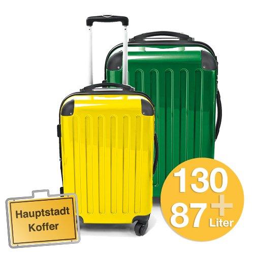 HAUPTSTADTKOFFER 2er Set Metallic Grün (130Liter)