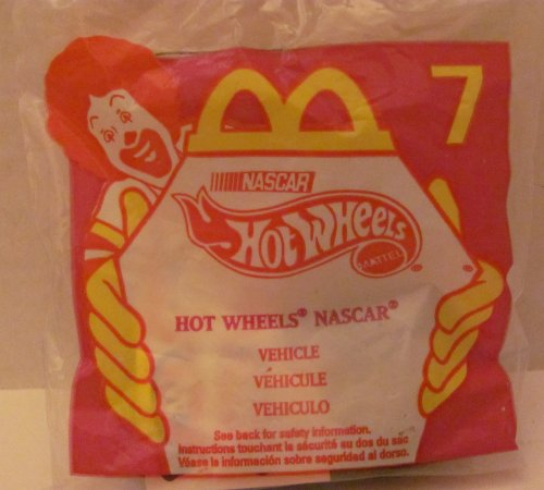 Mattel HOT WHEELS - McDONALDS Happy Meal TOY Die Cast CAR - HOT WHEELS NASCAR #44 - Bag #7 - 1998 / China (Comes in Original UNOPENED Bag) / *For Children Age 3 and Over / May Contain Small Parts* - 1
