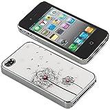 Strass Hard Case Schutzh�lle Schutz H�lle Case Cover Danelion f�r iphone 4 4s