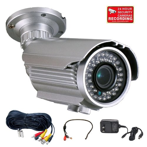 Videosecu 700Tvl Osd Menu Built-In 1/3'' Sony Effio Color Ccd Security Camera Day Night Vision Outdoor High Resolution 4-9Mm Varifocal Lens 42 Ir Infrared Leds For Cctv Dvr Home Surveillance System With Mini Microphone, Extension Cable And Power Supply Wg