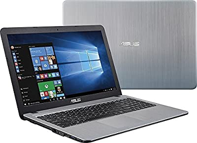 "2016 Newest ASUS VivoBook 15.6"" HD LED BacklightLaptop, Intel Pentium Quad-Core Processor 4GB RAM 500GB HDD DVD +/- RW WiFi-AC HDMI Webcam VGA Windows 10 Silver"