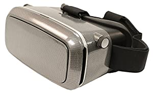 VR KiX Virtual Reality Headset, Carbon Fiber, 360 Viewing with Smartphone, Compatible with Google Cardboard Apps