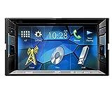 Auto Radio Multimedia 2 DIN DVD USB CD Receiver JVC mit Bluetooth f�r Ford Mustang V 2005-2009 incl Einbauset