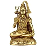 "Redbag ""Lord Shiva"" Brass Sculpture BS0123 ( 34.93 Cm, 20.32 Cm, 16.51 Cm )"