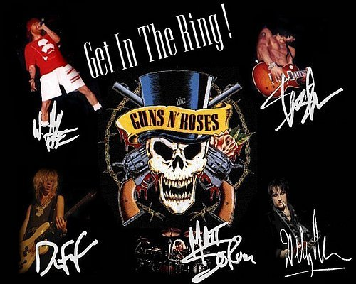Guns N Roses Autographed Preprint Signed Photo