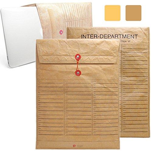 iNTAG MacBook 13 インチ 封筒 インナーケース スリーブ ケース マックブック Air Pro Retina 13.3 インナーカバー ブラウン iN-ENV13JOBS-BR