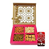 Chocholik Belgium Chocolates - Special Dry Fruit And Baklava Designer Gift Box With 3d Mobile Cover For IPhone...