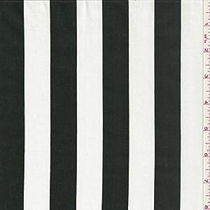 60 Black White Stripe Print Fabric 15 Yards