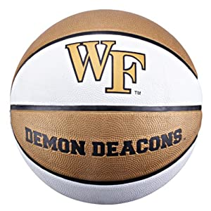 Click here to buy NCAA Wake Forest Demon Deacons Collegiate Deluxe Official Size Rubber Basketball by Baden.