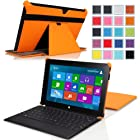 MoKo Slim-fit Case for Microsoft Surface Pro / Surface Pro 2 10.6 Inch Windows 8 Tablet (Fits with or without Type / Touch Keyboard Cover), ORANGE