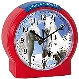 Atlanta Kids Alarm Clock - Motif Horse Horses Horse Alarm Clock - Quartz Alarm Clock Childrens Watch