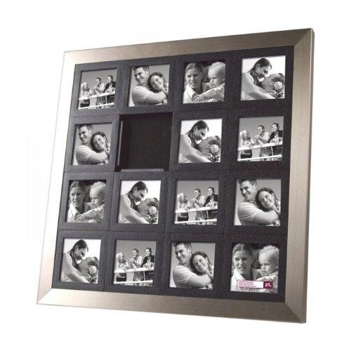 cadres cadre photo design puzzle acier couleur argent mati re m tal. Black Bedroom Furniture Sets. Home Design Ideas