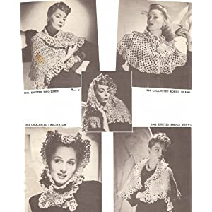 Vintage Knitting Patterns - Shawls, Co