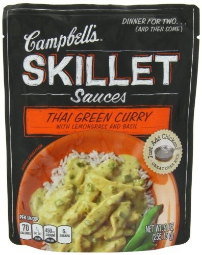 Campbell's Skillet Sauces, Thai Green Curry with Lemongrass and Basil, 9-Ounce Pouch