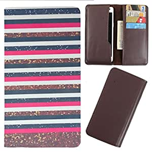 DooDa - For XOLO Q1001 PU Leather Designer Fashionable Fancy Case Cover Pouch With Card & Cash Slots & Smooth Inner Velvet