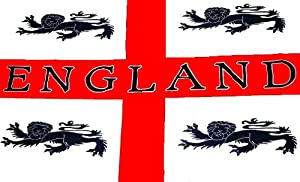 5Ft X 3Ft 5'X3' Flag England 4 Lions St Georges Cross Day English