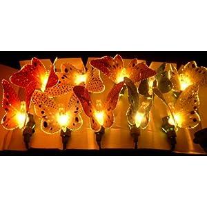 Fiber Optic~1 Set 10 Butterfly~Wedding Garden String Lights~Indoor ...