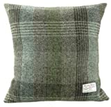 Harris Tweed Square Cushion with Velvet Back - Patchwork Colour - Made in Scotland by Glen Appin
