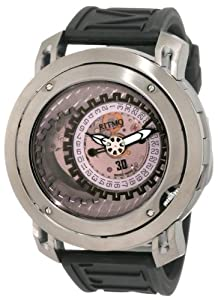 Ritmo Mundo Men's 202/3 TIT Black Persepolis Dual-Time Exhibition Automatic Watch