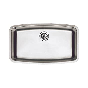 Blanco 440104 Performa Super Single Bowl Undermount Kitchen Sink, Satin Polished Finish