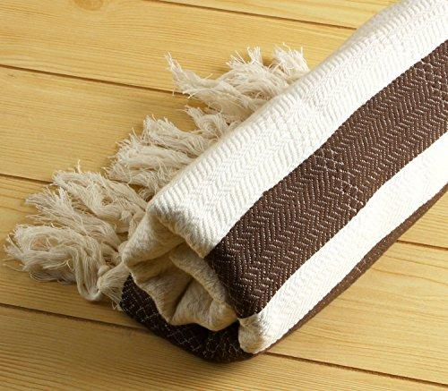 "Bamboo Pestemal Turkish Bath Towel Sarong Unisex 37""X71"" Tm Cacala ""Brown"""