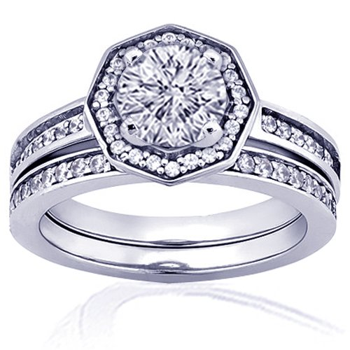 1.40 Ct Round Cut Halo Diamond Engagement Wedding