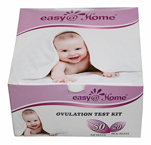 Easy@Home 50 Ovulation Test Strips and 20 Pregnancy Test Strips Kit – or Choose your own Ovulation (LH) and/or Pregnancy (HCG) Urine Test Strip Combo Kit – the Reliable Ovulation Predictor Kit (50 LH + 20 HCG)