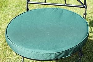 coussin pour mobilier de jardin coussin rond pour chaise de bistrot coloris vert. Black Bedroom Furniture Sets. Home Design Ideas