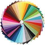 KINGSO 42PCS Assorted Color Felt Fabric Sheets Patchwork Sewing DIY Craft 20*30cm