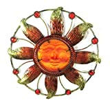 Bejeweled Display® Sun Face w/ Stain Glass Wall Art Plaque Home Decoration