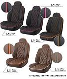 VW ゴルフ5(GTI)用 ELDINE(エルディーネ)シートカバー ダイヤキルト ブラック/ピンク