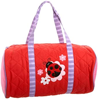 Stephen Joseph Little Girls'  Quilted Duffle Bag, Ladybug, One Size
