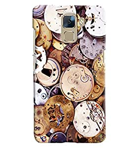 Blue Throat Old Watch Machine Inspired Hard Plastic Printed Back Cover/Case For Huawei Honor 7