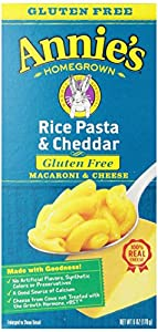 Annie's Homegrown Gluten-Free Rice Pasta & Cheddar Mac & Cheese, 6-Ounce Boxes (Pack of 12)