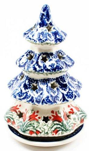 Polish Pottery Candle Holder Christmas Tree 6