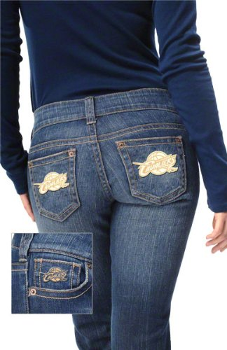 Cleveland Cavaliers Women's Denim Jeans - by Alyssa Milano at Amazon.com