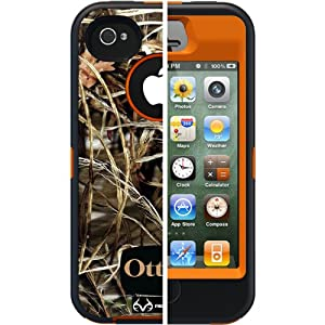 OtterBox [Defender Series] Case and Holster for iPhone 4/4S - Retail Packaging Protective Case for iPhone - Realtree Camo - Max 4HD Orange