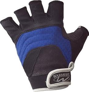 Warmers Barnacle Half Finger Paddling Glove (Black/Blue, Large)
