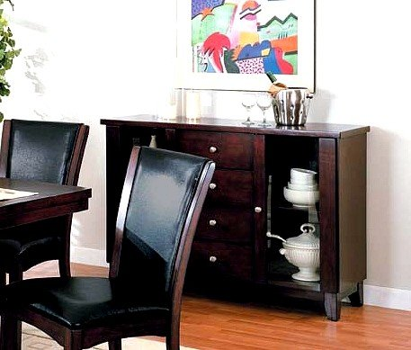 Cheap Contemporary Randall Cherry Finish Sideboard / Server (VF_AM6563)